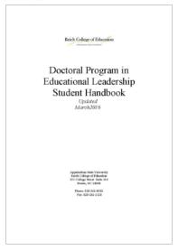 Ed Leadership Student Handbook Title page