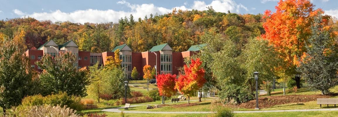 Durham Park facing JET building on campus