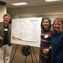 Students at a poster presentation at the 2017 NCARE meeting.